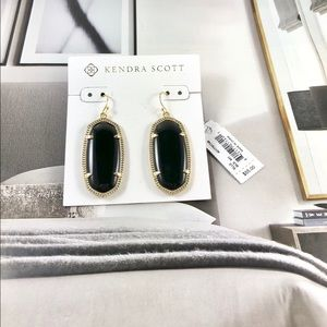 Kendra Scott Elle black gold earrings